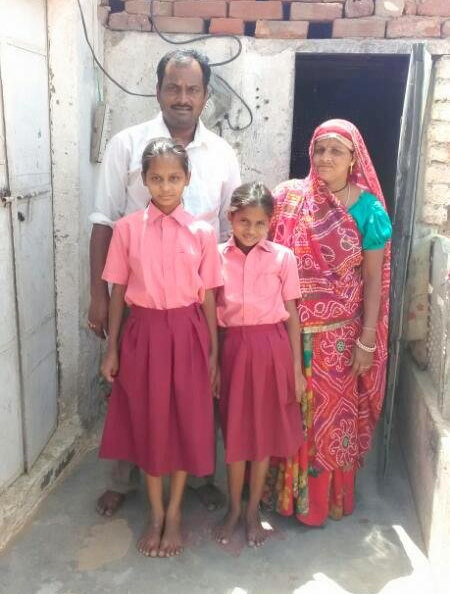 Diksha with her Family