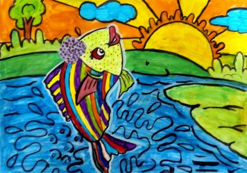 Colorful Fish by Ajay