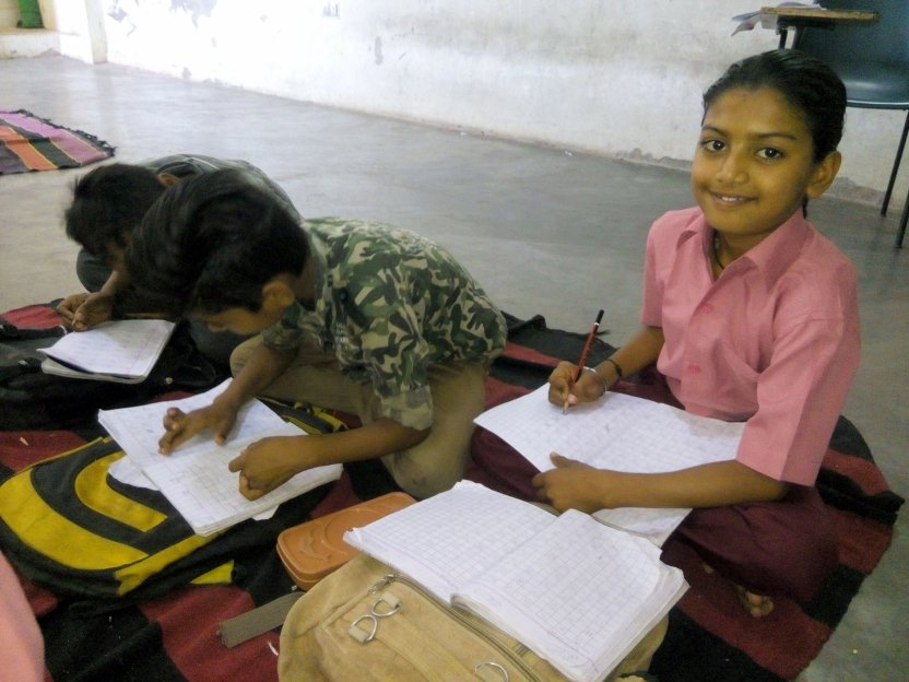 Akash in the classroom